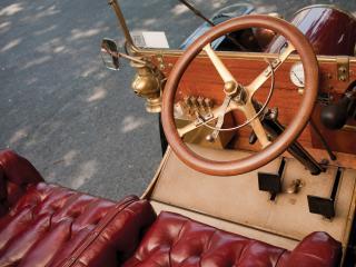 обои Franklin Model G Touring 1906 руль фото