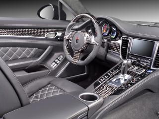 обои TopCar Porsche Panamera Stingray руль фото