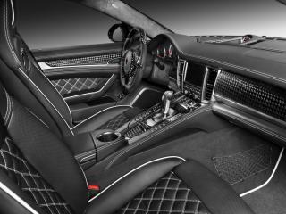 обои TopCar Porsche Panamera Stingray салон сбоку фото