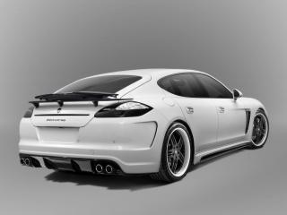 обои TopCar Porsche Panamera Stingray серый фон фото