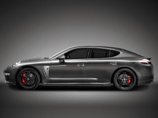 обои TopCar Porsche Panamera Stingray черный сбоку фото