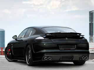 обои TopCar Porsche Panamera Stingray черный сзади фото