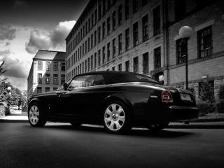 обои для рабочего стола: Project Kahn Rolls-Royce Phantom Drophead Coupe боком