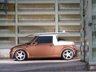 обои Parotech Pioneer Mini Cooper Cabrio сбоку фото