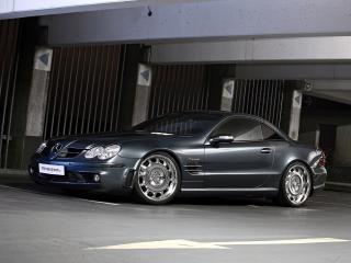 обои MR Car Design Mercedes-Benz SL65 AMG (R230) у стены фото