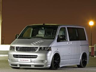 обои MR Car Design Volkswagen T5 ночь фото