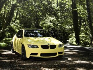 обои IND BMW M3 Coupe (E92) на обочине фото