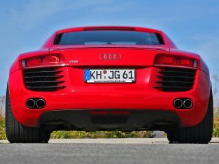 обои MFK Autosport Audi R8 красный сзади фото