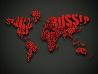 обои Креативная карта мира со смыслом фото