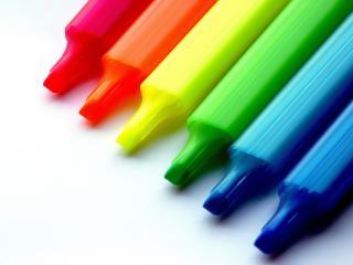 обои Яркие разноцветные фломастеры фото