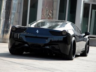 обои Anderson Germany Ferrari 458 Italia Black Carbon Edition зад фото