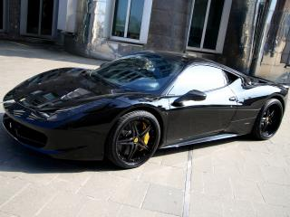 обои Anderson Germany Ferrari 458 Italia Black Carbon Edition черный фото