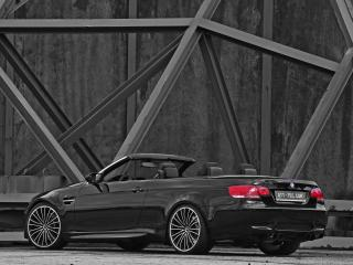 обои ATT BMW M3 Cabrio Thunderstorm сзади фото
