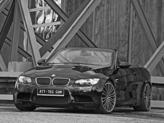 обои ATT BMW M3 Cabrio Thunderstorm спереди фото