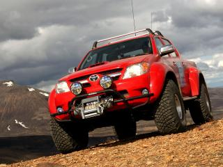обои Arctic Trucks Toyota Hilux Invincible AT38 гора фото