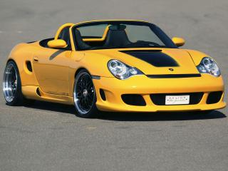 обои Gemballa Boxster GTR 500 Bi-Turbo (986) желтый фото