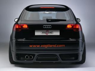 обои Audi A3 Sportback by Vogtland (8PA) черный сзади фото
