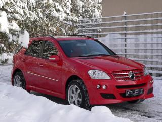 обои ART Mercedes-Benz M-Klasse (W164) красный фото
