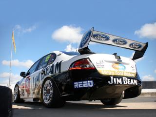 обои Jim Beam Racing DJR Ford Falcon (FG) зад фото
