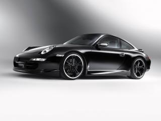 обои TechArt Porsche 911 Carrera Coupe (997) черный сбоку фото