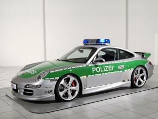обои TechArt Porsche 911 Carrera S Police Car (997) бок фото