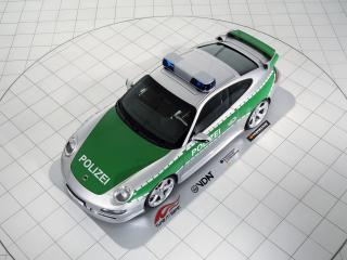 обои TechArt Porsche 911 Carrera S Police Car (997) сверху фото