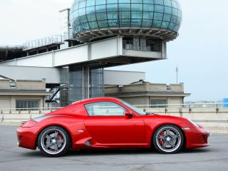 обои Studiotorino Ruf RK Coupe красная фото