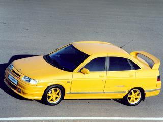 обои ТоргМаш Lada 110 TMS 1.6 (2110) желтая фото