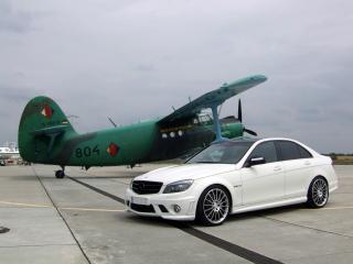 обои Avus Performance Mercedes-Benz C63 AMG (W204) бок фото