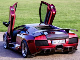обои JB Car Design Lamborghini Murcielago LP640 открыты двери фото