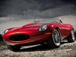 обои Eagle E-Type Speedster красная фото
