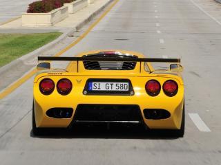 обои Mosler MT900S желтая зад фото