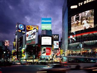 обои Город Токио ночью фото