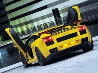 обои BF Performance Lamborghini Gallardo открыты двери фото