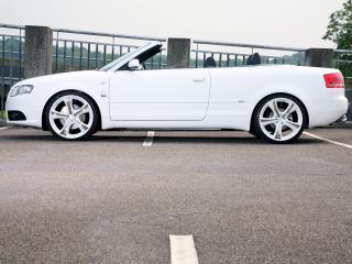 обои Sport-Wheels Audi A4 Cabrio (B7,8H) белая фото
