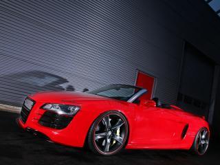 обои Sport-Wheels Audi R8 V10 Spyder 2011 бок фото