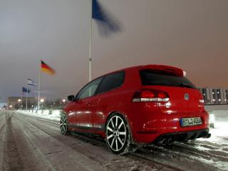 обои MTM Volkswagen Golf GTI R (Typ 1K) зима фото