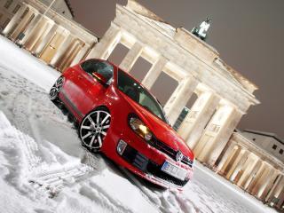 обои MTM Volkswagen Golf GTI R (Typ 1K) красная фото