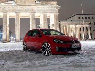 обои MTM Volkswagen Golf GTI R (Typ 1K) снег фото