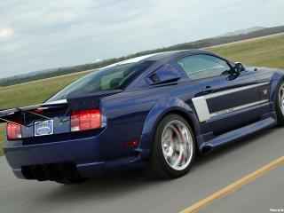 обои 2006 Ford Shadrach Mustang GT by Pure Power Motorsports сзади фото