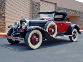 обои LaSalle Roadster 1927 красный фото