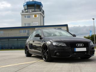 обои AVUS Performance Audi A4 Avant Black Arrow башня фото