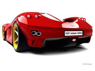обои DGF Design Ferrari Aurea Berlinetta зад фото