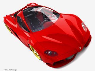 обои DGF Design Ferrari Aurea Berlinetta капот фото