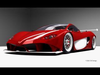 обои DGF Design Ferrari Aurea GT красная фото