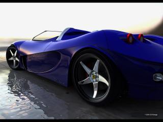 обои DGF Design Ferrari Aurea Spyder колесо фото
