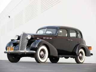 обои Oldsmobile Six Touring Sedan 1936 спереди фото