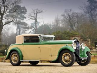 обои Delage D8 Foursome Drophead Coupe бок фото