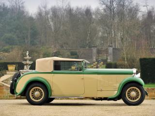 обои Delage D8 Foursome Drophead Coupe сбоку фото