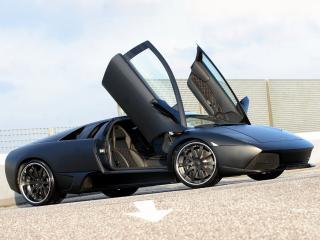 обои Unicate Lamborghini Murcielago LP 640 Yeniceri Edition открыты двери фото